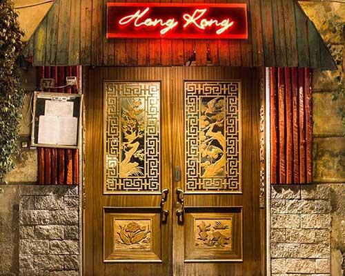 vista dall' esterno del ristorante Hong Kong