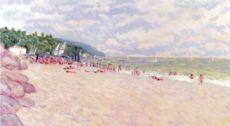 spiaggia, quadro, pittura