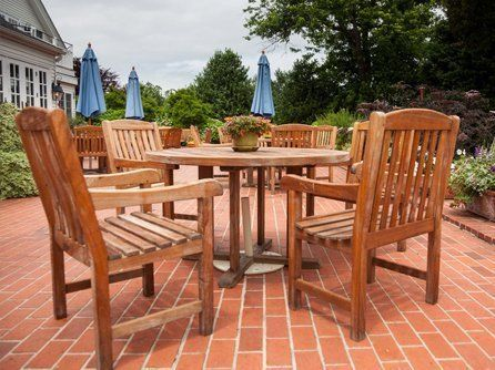 garden with dining set  furniture  Beautiful  custom made garden furniture. Custom made garden furniture in the Barnard Castle area