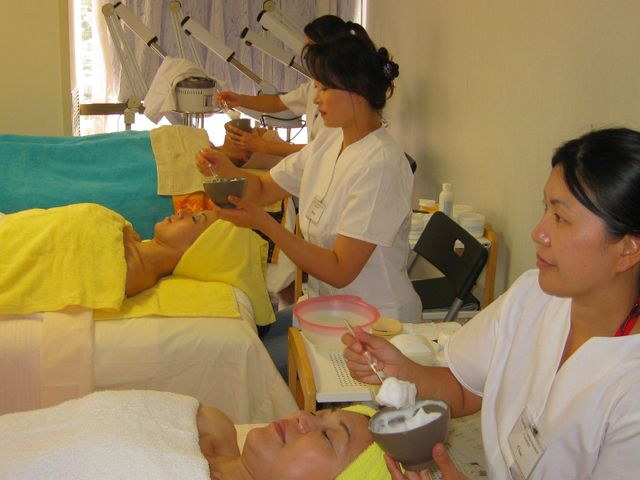 Students at our esthetician school