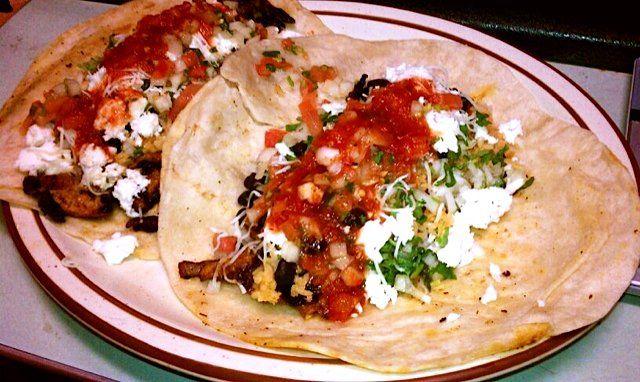flour tortilla tacos