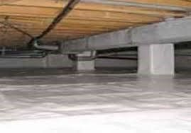 Vapor barrier crawl space