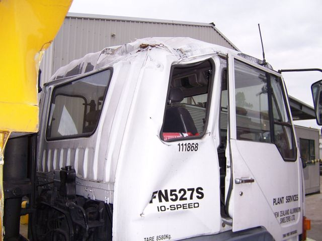 A bus after abrasive blasting