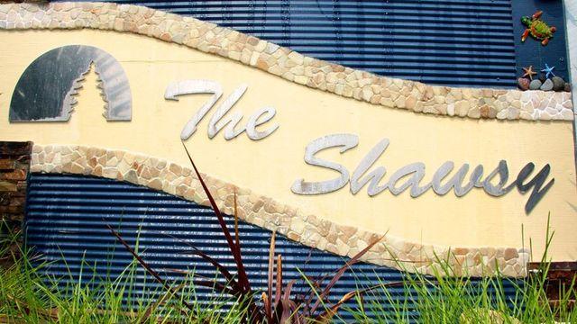 Shaws Bay Hotel signage