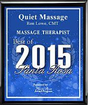 awarded 2015 best of massage therapist Santa Rosa, CA