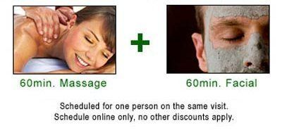 Special Deal for Spa Facial + 60 min. Massage