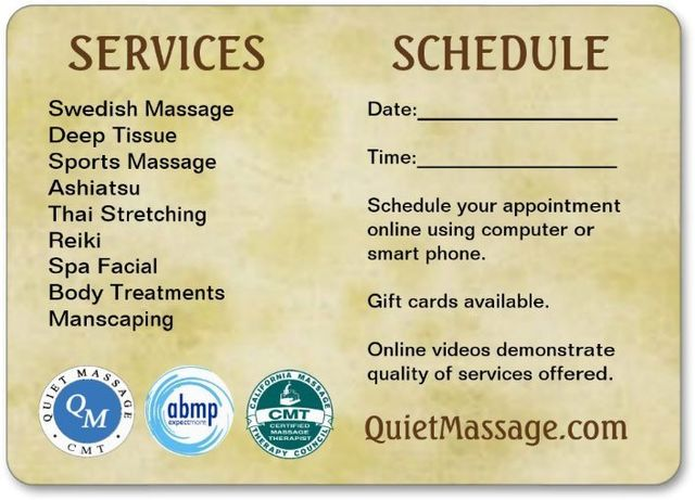 Quiet Massage, shower available - Santa Rosa, CA
