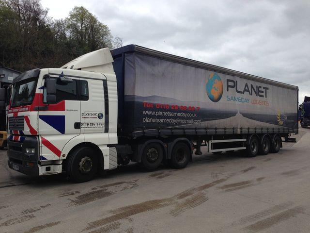 Planet Sameday Logistics Ltd van