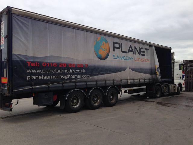 Logistics vehicle at Planet Sameday Logistics Ltd