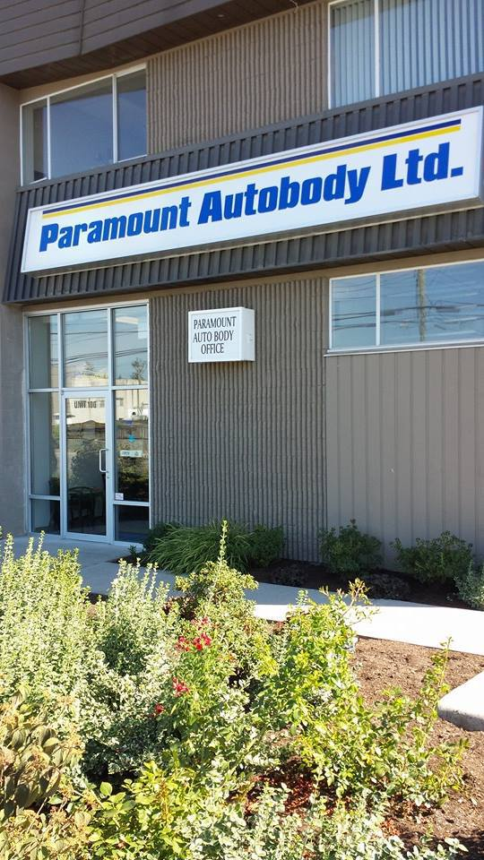 facade of our auto paint services shop in Abbotsford
