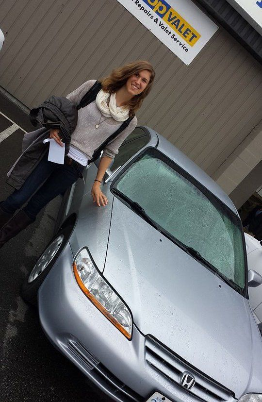 customer happy with collision repair in Abbotsford