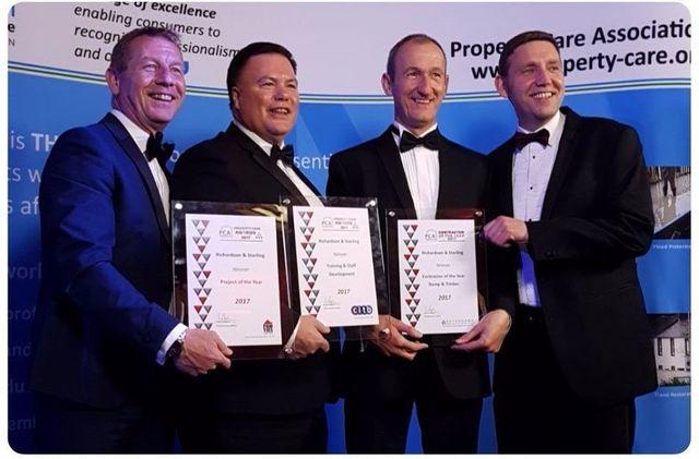 Richardson & Starling directors claiming the PCA award 2017