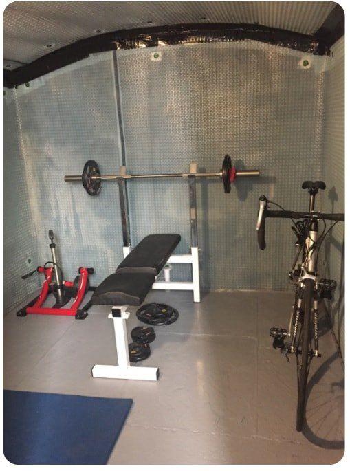 Cellar converted into a gym
