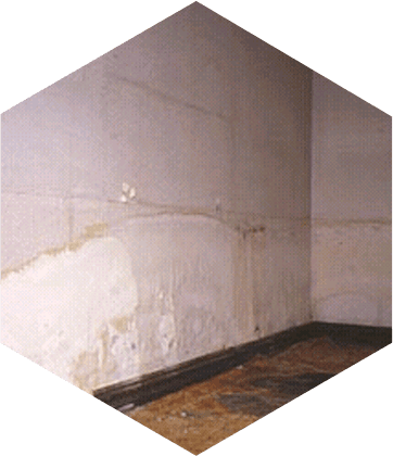 damp damage on the wall