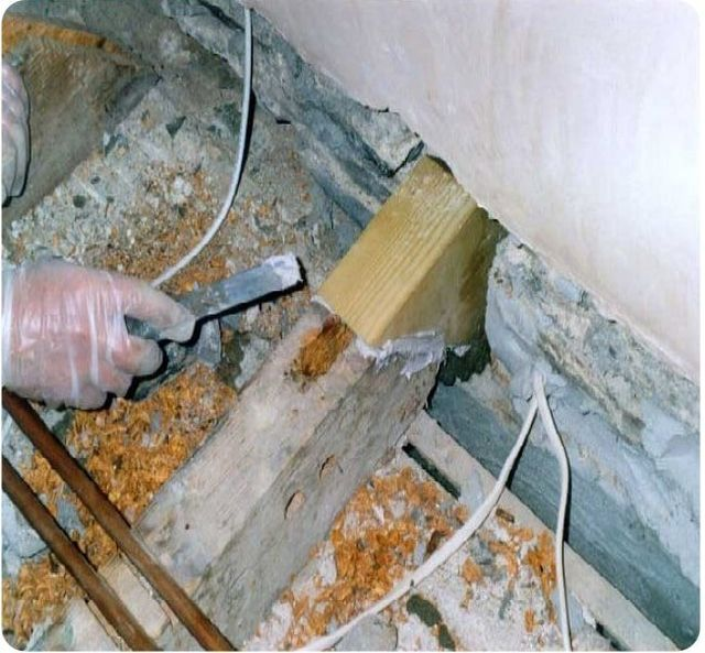 Structural timber resin repairs