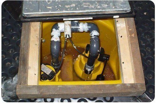 waterproofing sump and pump