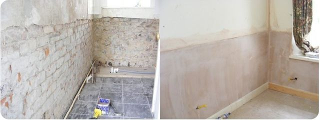 damp proofing - before and after