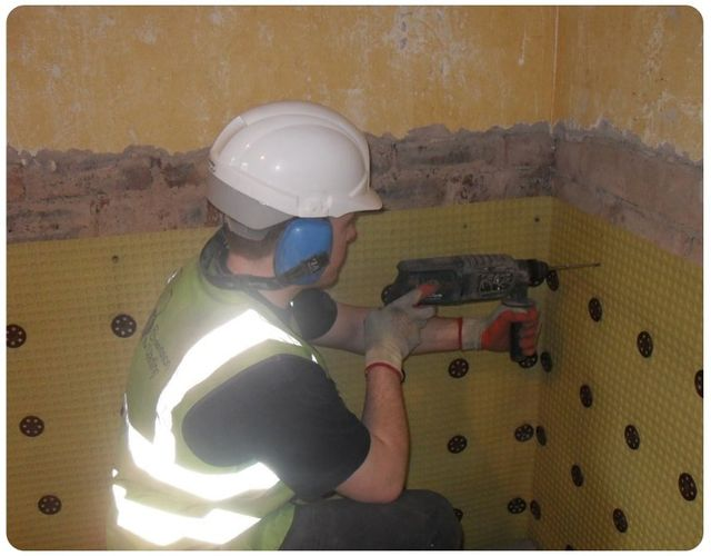 Damp proofing process