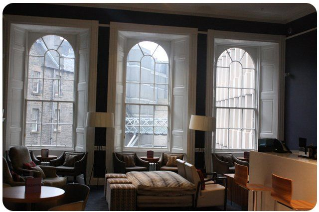 Timber window case study - hotel launge