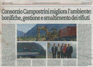Articolo quotidiano Trentino di sabato 31.10.2015