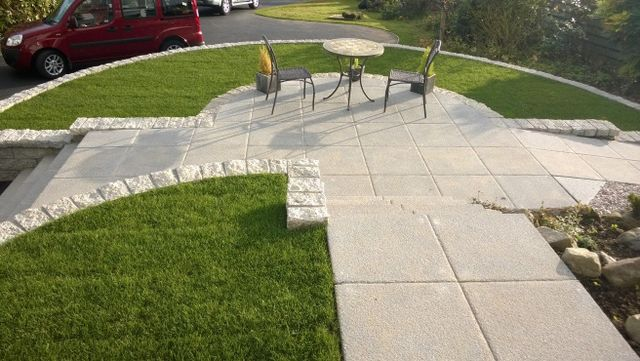 Driveway and kerb installation