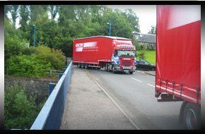 Lorries at distribution centre