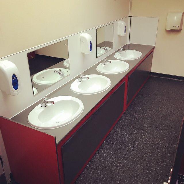 School toilet cubicle makers in northampton for Bathroom design northampton