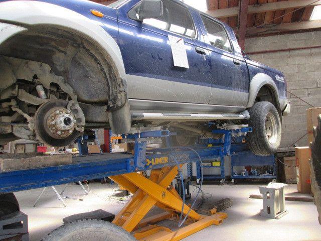 Car in service garage