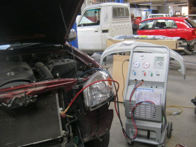 Car being serviced for electrical faults