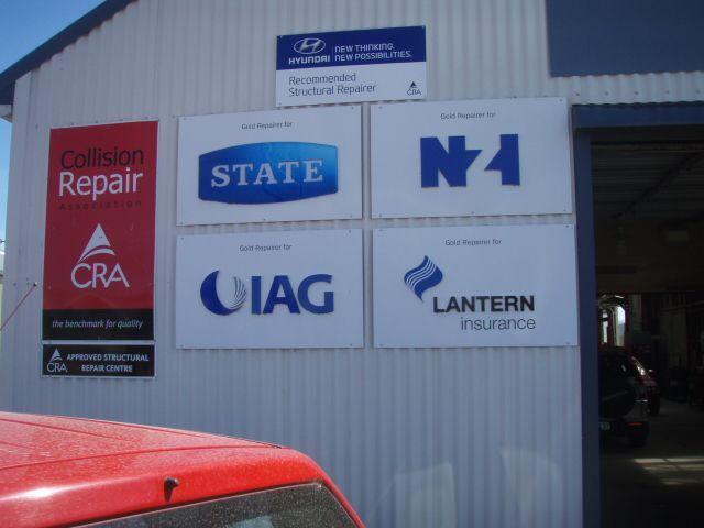 Exterior of car workshop