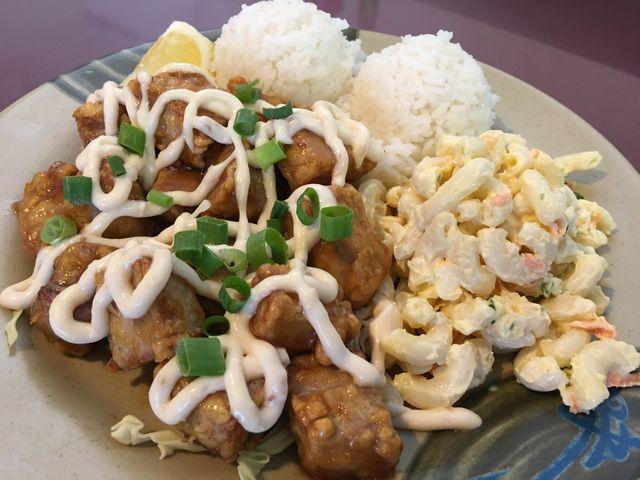 Asahi Grill Ward's Garlic Ahi Plate in Honolulu, Hawaii