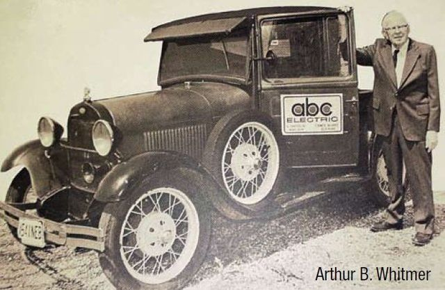 A classic company vehicle from our early days as a commercial electrical contractor in Lincoln, NE