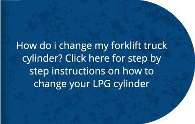 How to change your forklift truck gas cylinder