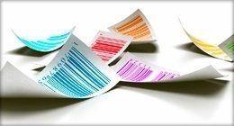 Etichette adesive stampate in vari colori