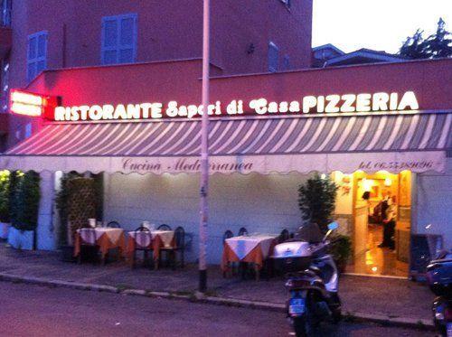 Vista frontale del Ristorante Pizzeria Sapori Di Casa a Roma