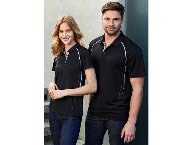ballarat embroidery team and workwear gray vitory polo