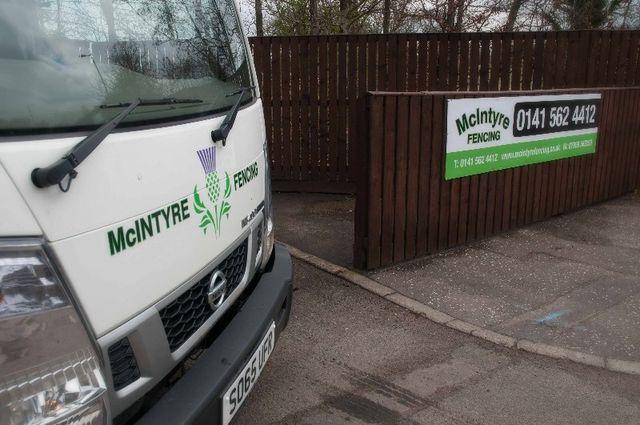 McIntyre Fencing company van