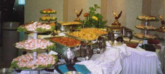 Buffet dish set on table