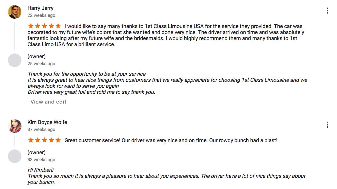 Limousine Service Seattle Wa Limo Company Reviews