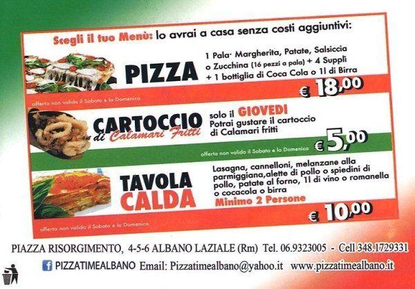 scegli il tuo menu