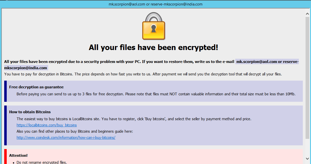 Wallet Ransomware