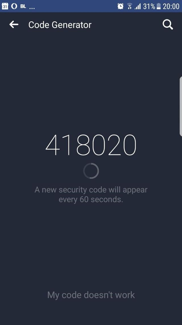 Facebook Code Generator