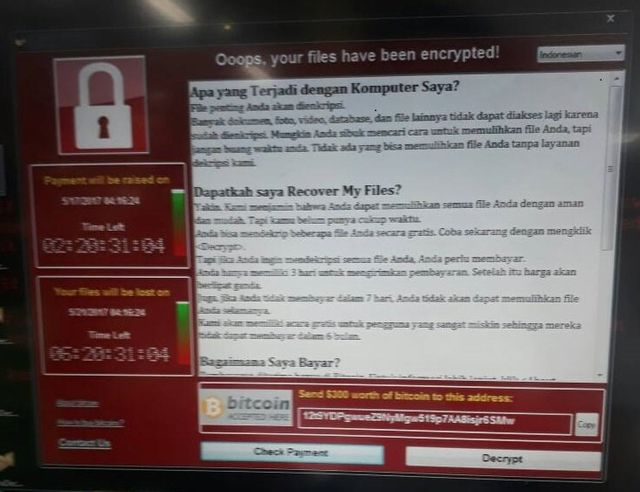 Wannacry mengamuk, Windows XP diujung tanduk