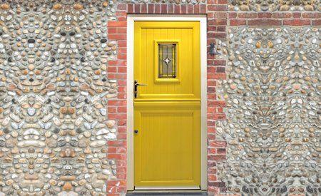 yellow coloured door