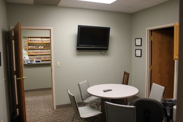 Waiting room for oral hygiene procedures at clinic in Lincoln, NE