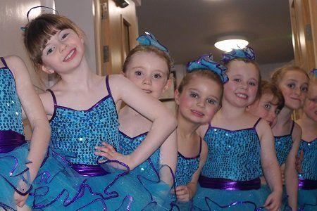 Kids in blue frock