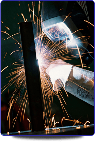 A close-up of a welder.