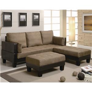 Tan Microfiber Brown Vinyl Sofa Bed