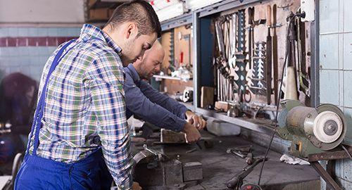 Expert doing rekeying work on the locks in Caro, MI
