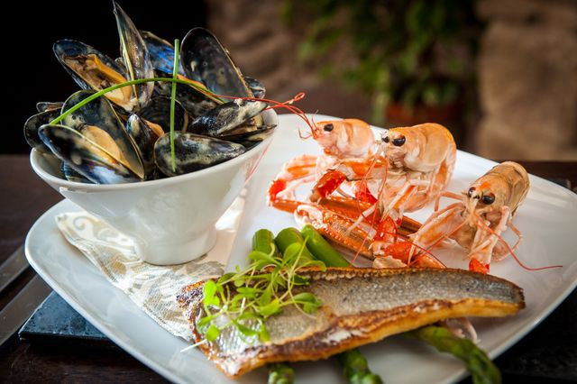 A dish served in our seafood restaurant in Catterline